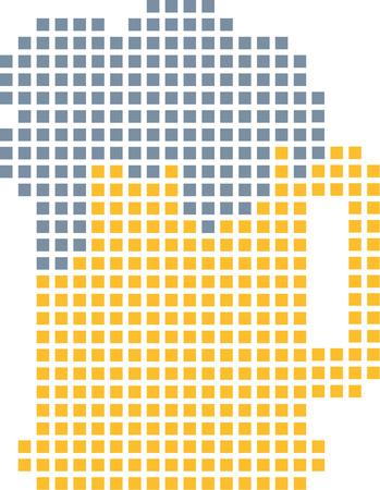 pixels: Beer out of pixels Illustration