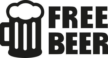 eslogan: lema cerveza gratis Vectores