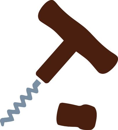 the opener: Bottle opener corkscrew Illustration