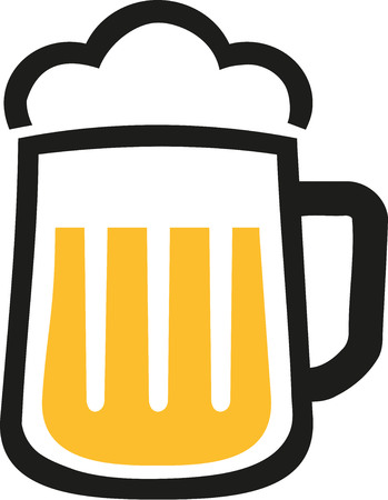 foam: Beer mug icon with foam