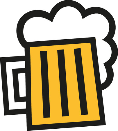 beer garden: Beer mug icon squared