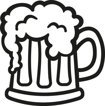 beer foam: Cartoon Beer mug