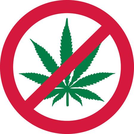 forbidden: No Marijuana. Dope forbidden