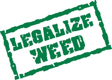 legalize: Legalize weed stamp Illustration
