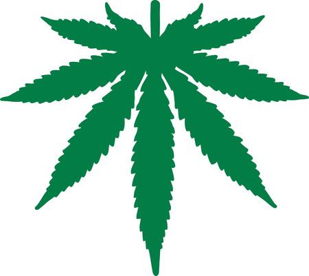 upside down: Marijuana leaf upside down Illustration
