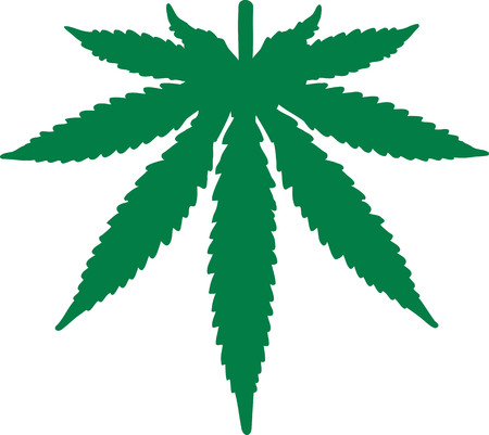 Marijuana leaf upside down Illustration