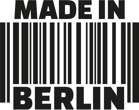 berlin: Made in Berlin barcode