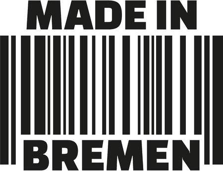 bremen: Made in Bremen barcode Illustration