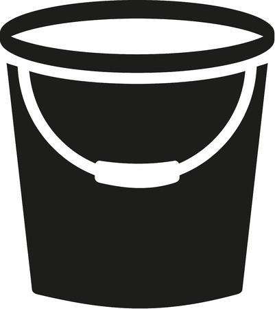 cleaner vacuuming symbol: Cleaning bucket
