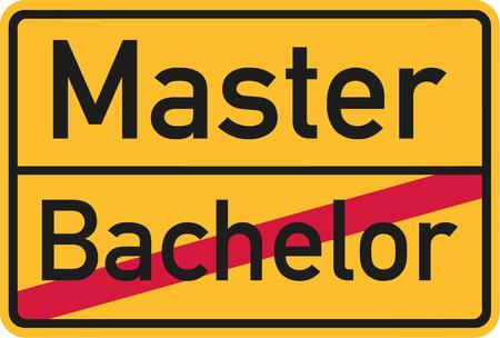 master: Bachelor finished - start master Illustration