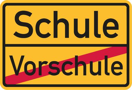 pre school: From pre school to elementary school - german sign