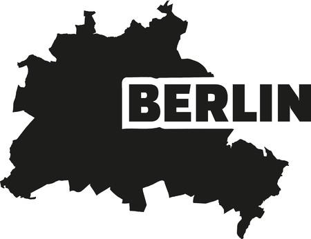 berlin: Berlin map with title