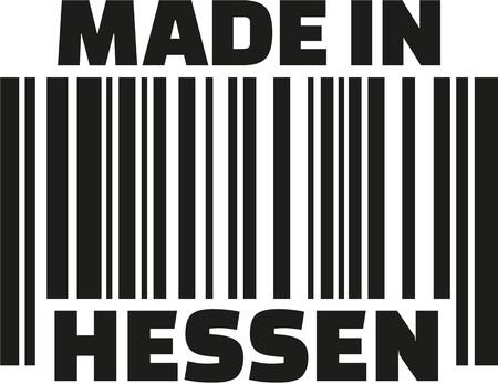 frankfurt germany: Made in Hesse barcode german Illustration