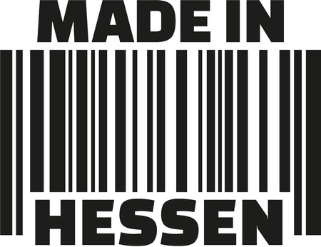 Made in Hesse barcode german Illustration