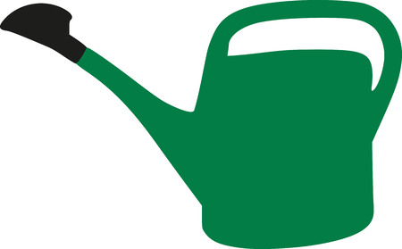 watering can: Grenn watering can Illustration