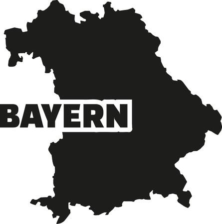 bavaria: Bavaria map with german title