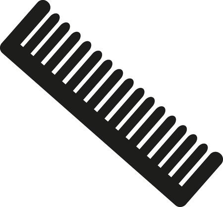 peine el cabello Ilustración de vector