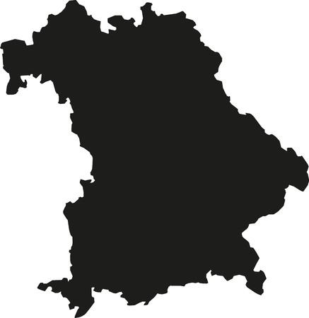Map of Bavaria Illustration
