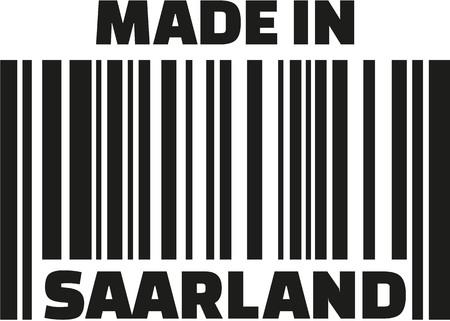 saarland: Made in Saarland barcode Illustration