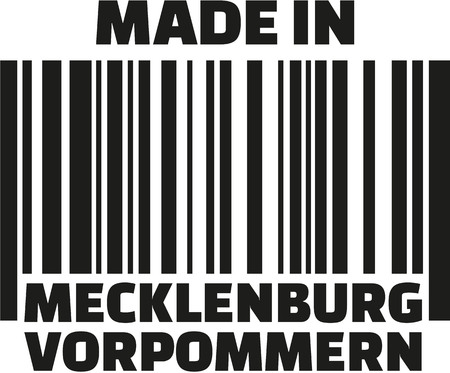baltic: Made in Mecklenburg-Western Pomerania barcode german Illustration