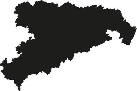 saxony: Map of Saxony
