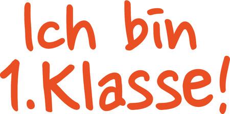 first in class: I am first class - german