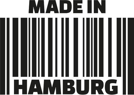 hamburg: Made in Hamburg barcode Illustration