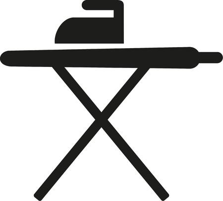 Strijkplank pictogram Stock Illustratie