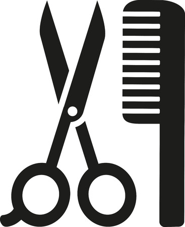 drier: Scissor and comb icon