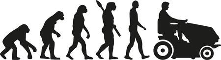 Rijden grasmaaier evolutie