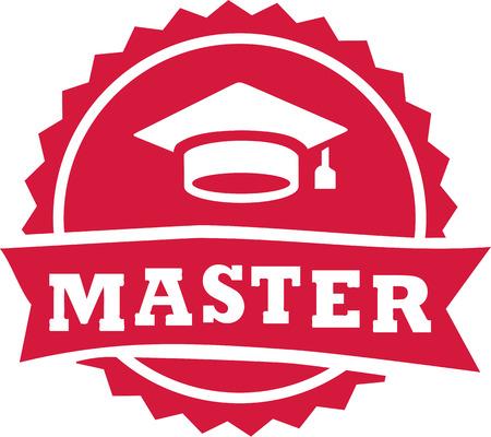 Maestro timbro 2016 graduazione cappello Vettoriali