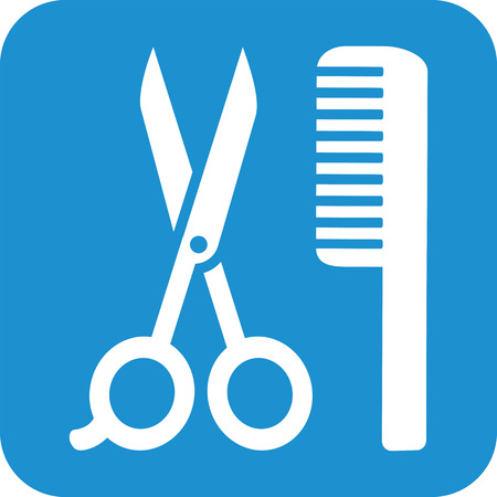hair drier: Icon comb and scissor
