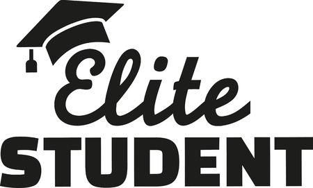 Étudiant Elite avec graduation chapeau Vecteurs
