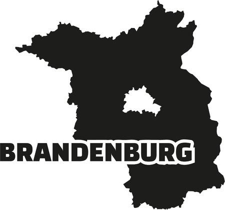 brandenburg: Brandenburg map with title