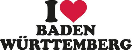 freiburg: I love Baden-Württemberg Illustration