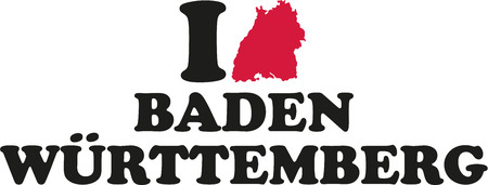 freiburg: I love Baden-Württemberg with map