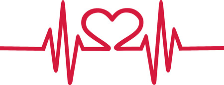 love shape: Heart cardiogram