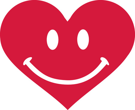 smiley: Heart with smiley face Illustration