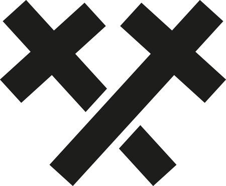 Twee kruisen gekruist