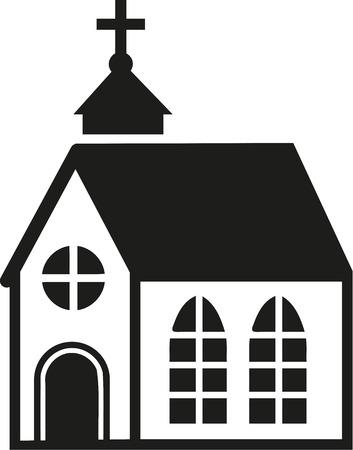 big windows: Church with big windows