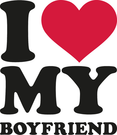boyfriend: I love my boyfriend Illustration