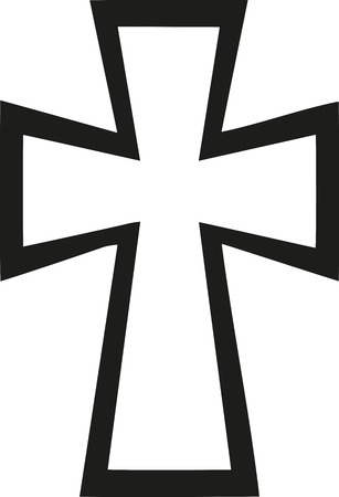 Byzantijns Kruis Stock Illustratie