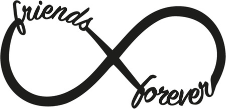Infinity sign with friends forever