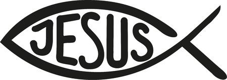 pez cristiano: los pescados con la palabra de Jesús