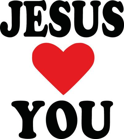 Jesus loves you icon