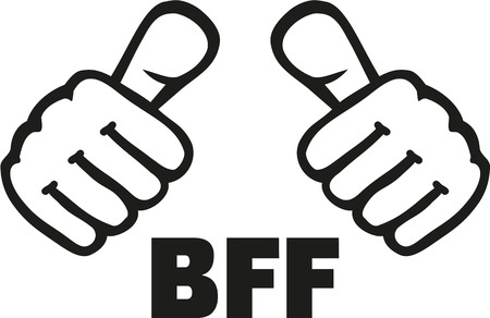 Mejor amigo para siempre con los pulgares Ilustración de vector