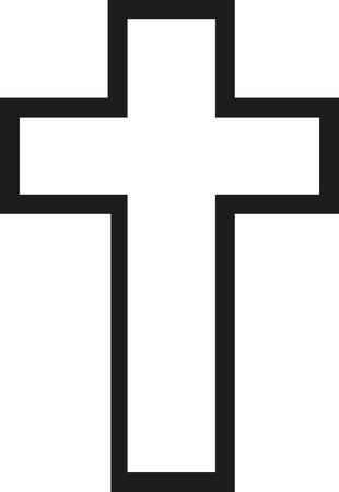 Cross jesus outline Stock Illustratie