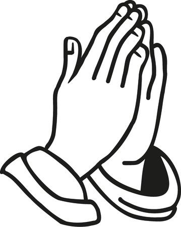 ręce modlący