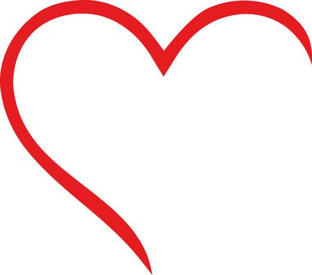 Half heart outline Vettoriali