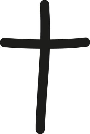handdrawn kruis Stock Illustratie